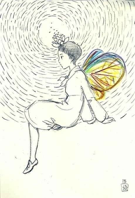 lotus crown - illustration, figuredrawing - serenedaoud | ello