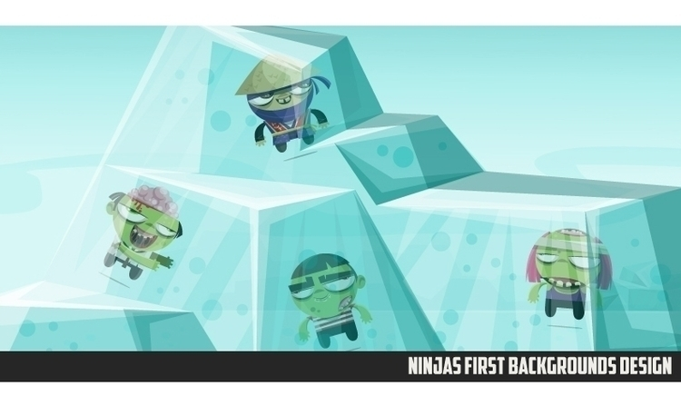 Ninjas Zombies 02 background - gameart - federicobonifacini | ello