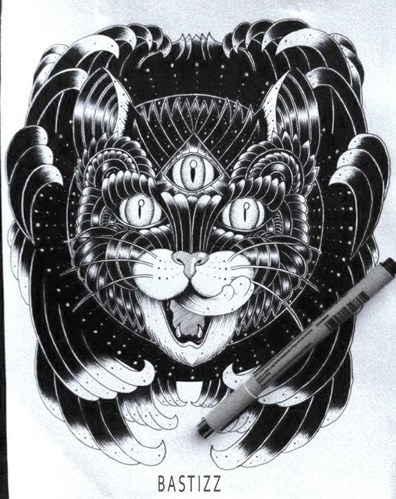 DARK CAT - cat, blackandwhite, blackcat - bastizz | ello