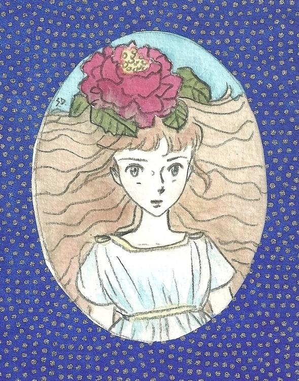 Cybil - peony, girl, priestess, greek - serenedaoud | ello