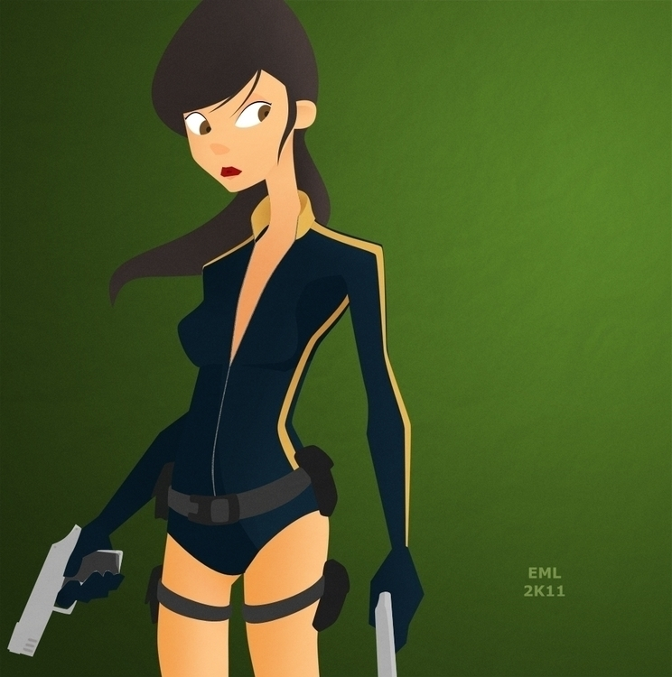 Lara Croft fan art - fanart, fanart - emarchena | ello