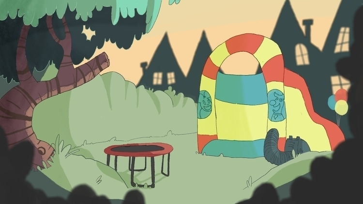 upcoming short - backgrounds, animation - paperbag-3414   ello