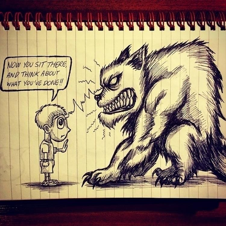 Dog training boss - illustration - theartofsichiu | ello