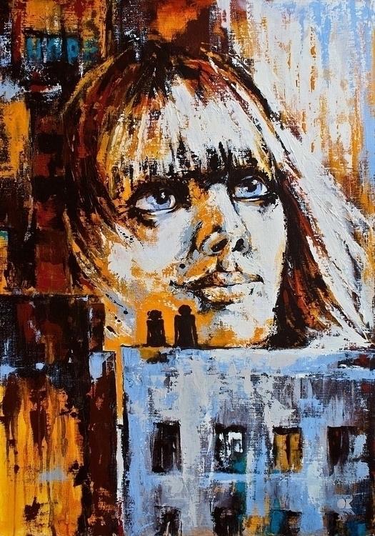 HOPE acrylic canvas, 70x100 cm - ogel   ello