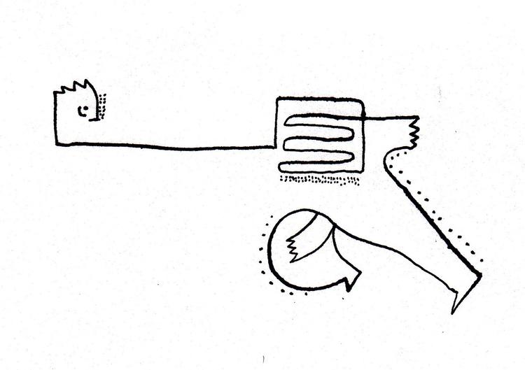 Carousel fear - illustration, lineart - shimaby | ello