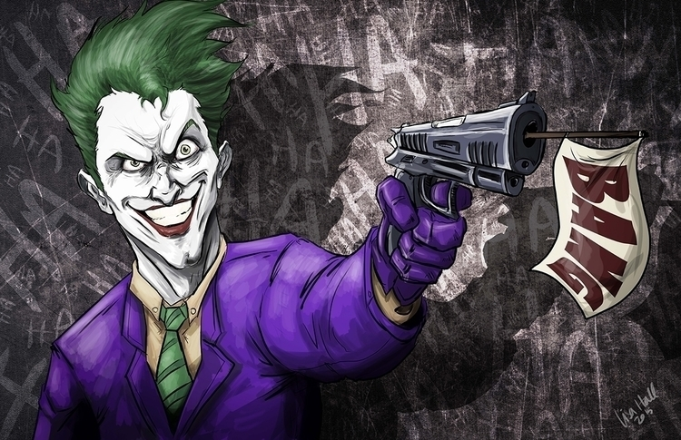 Joker gun artwork Lisa Hall - digitalart - paulhall | ello