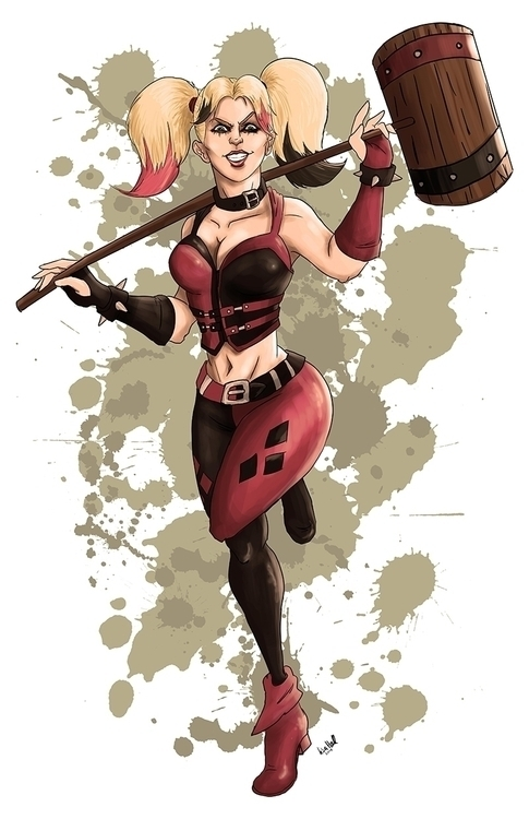 Harley Quinn hammer artwork Lis - paulhall | ello