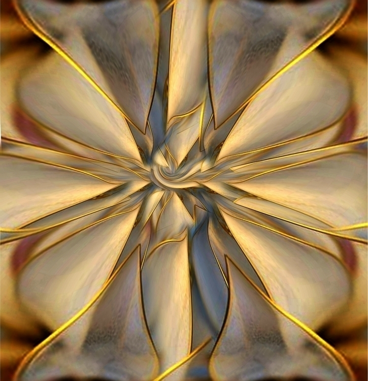 SILK SUN - abstract, digital, gold - carmenvelcic | ello