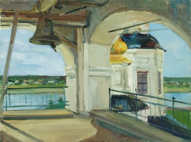 bell tower, 60/80, Oil / canvas - antonbogatov | ello