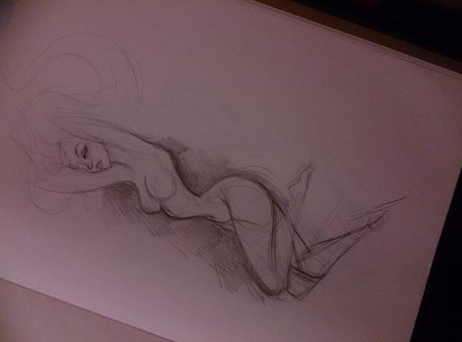 illustration, Sketch, pinup, BunnyBrush - bunnybrush | ello
