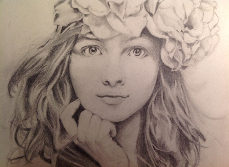 drawing, pencildrawing, pencilportrait - michellelijw | ello