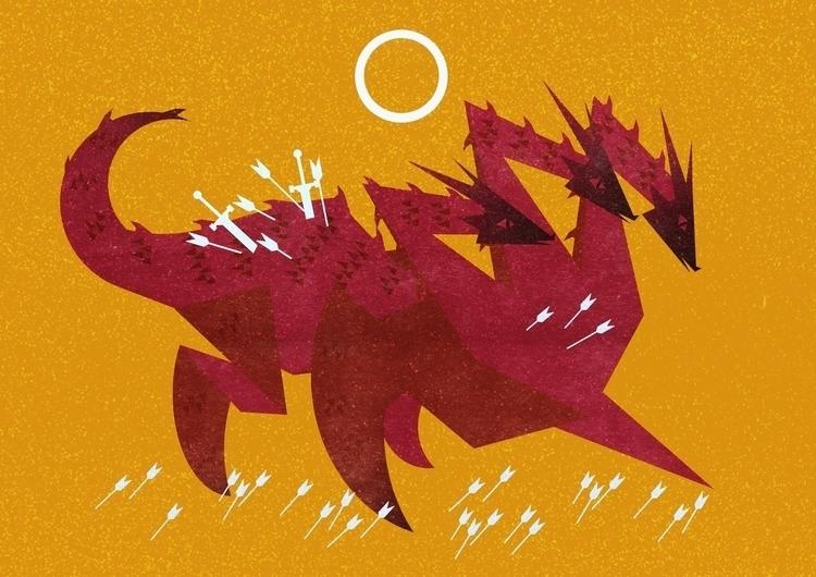 ''Slibinas'' headed dragon. 201 - klaudrawstuff | ello
