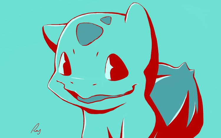 Bulbasaur s2 - illustration, pokemon - rayssamc | ello