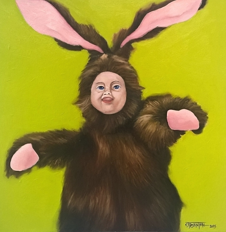 Bunny Boy - painting, illustration - cjrosenthal | ello