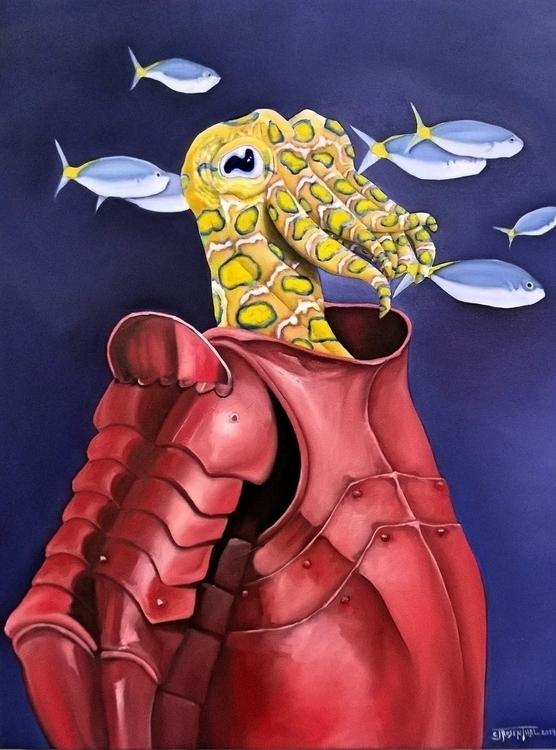 Red Knight - painting, illustration - cjrosenthal | ello