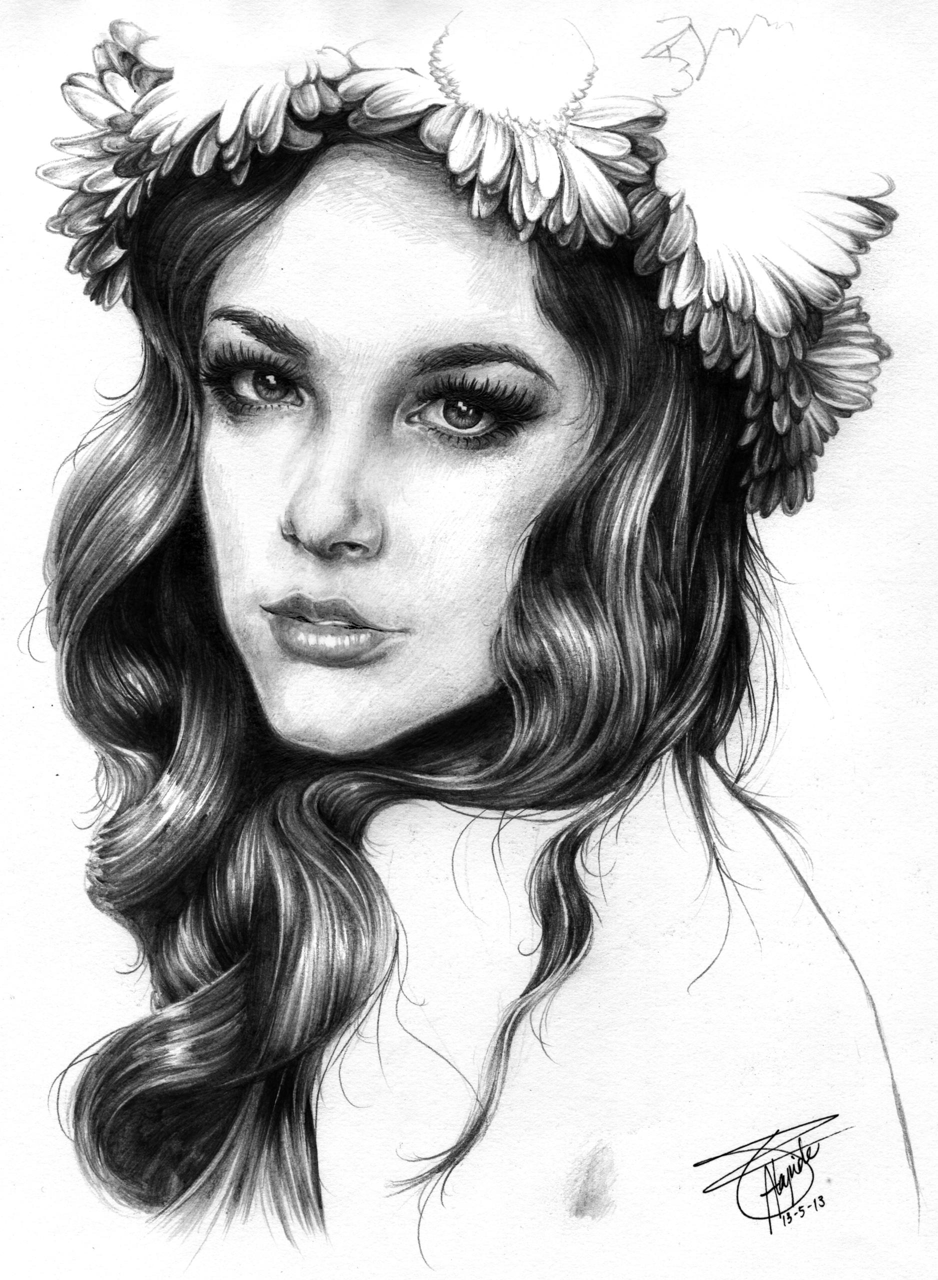 FLORA - illustration, portrait, portraiture - neilbrian | ello