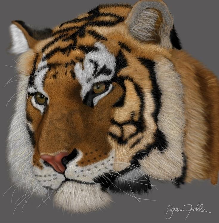 digital painting animal. gorgeo - jasonfella | ello