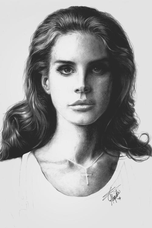 LANA DEL REY - illustration, portrait - neilbrian | ello