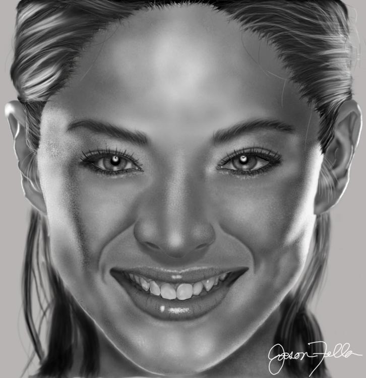 digital drawing adorable actres - jasonfella | ello
