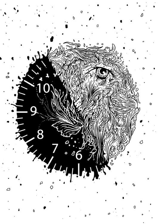5:55 - illustration, illustrator - kdlig | ello