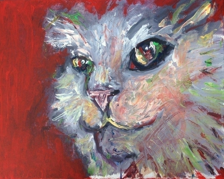 Mouse Killer, acrylic canvas, 2 - rabbott-8438 | ello