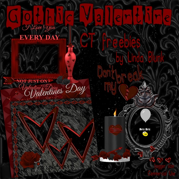 freebies kit, Gothic Valentine - ditzbitz | ello