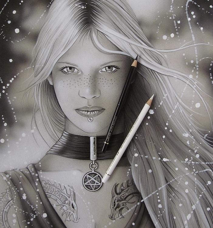 Sorceress. Airbrush colored pen - jcberbes | ello