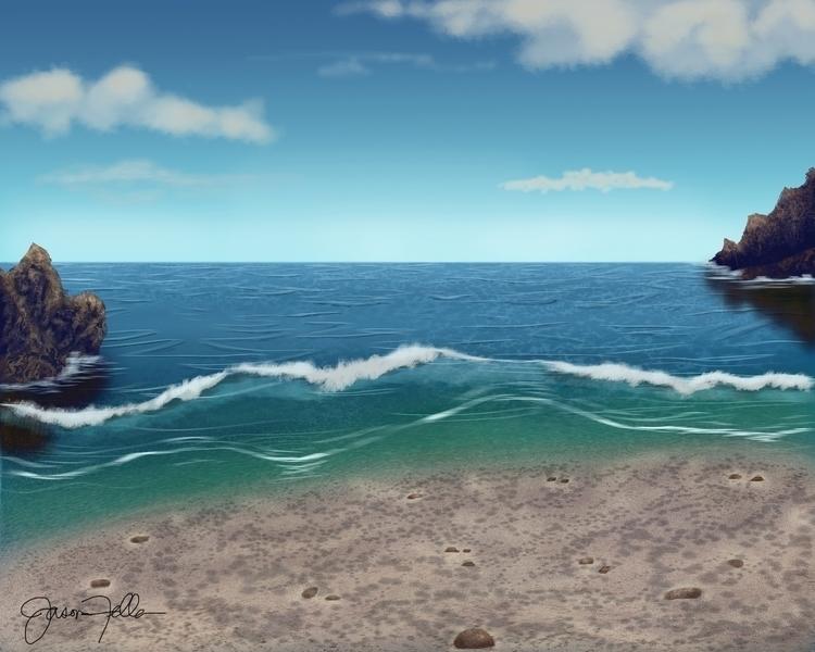 digital seascape painting Corel - jasonfella | ello