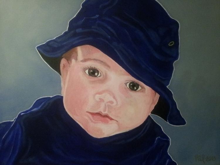 Boy Blue Elliott Acrylic Canvas - artenvy | ello