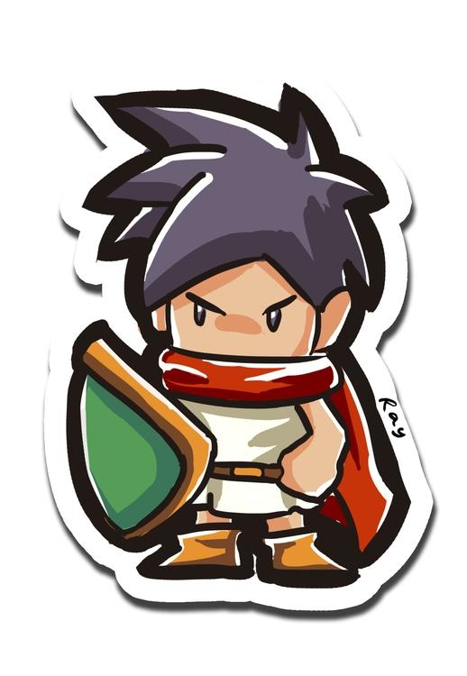 Tata - illustration, sticker - rayssamc | ello