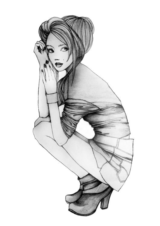 Fashion sketch 3 - illustration - naya-1174 | ello