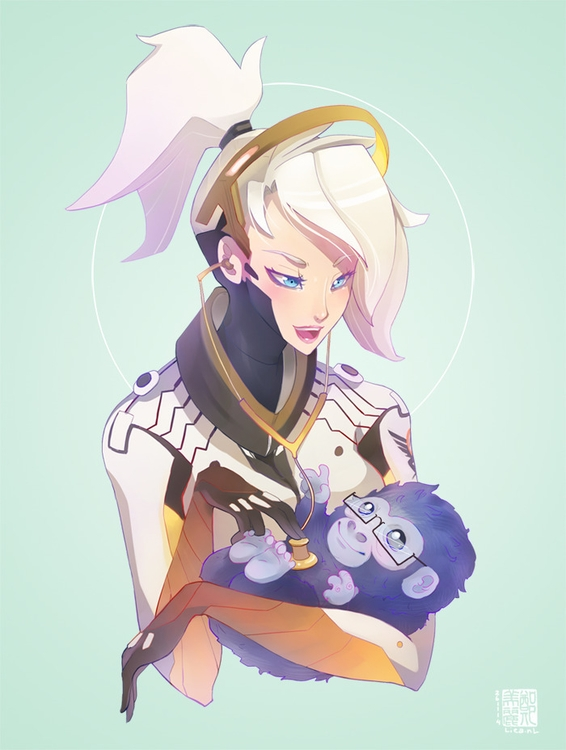 Mercy + mini Winston Overwatch - liea-7253 | ello