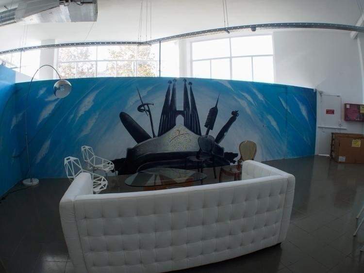 Este mural decorativo para empr - eduardoors | ello