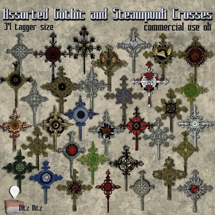 34 Gothic Steampunk Crosses tag - ditzbitz   ello
