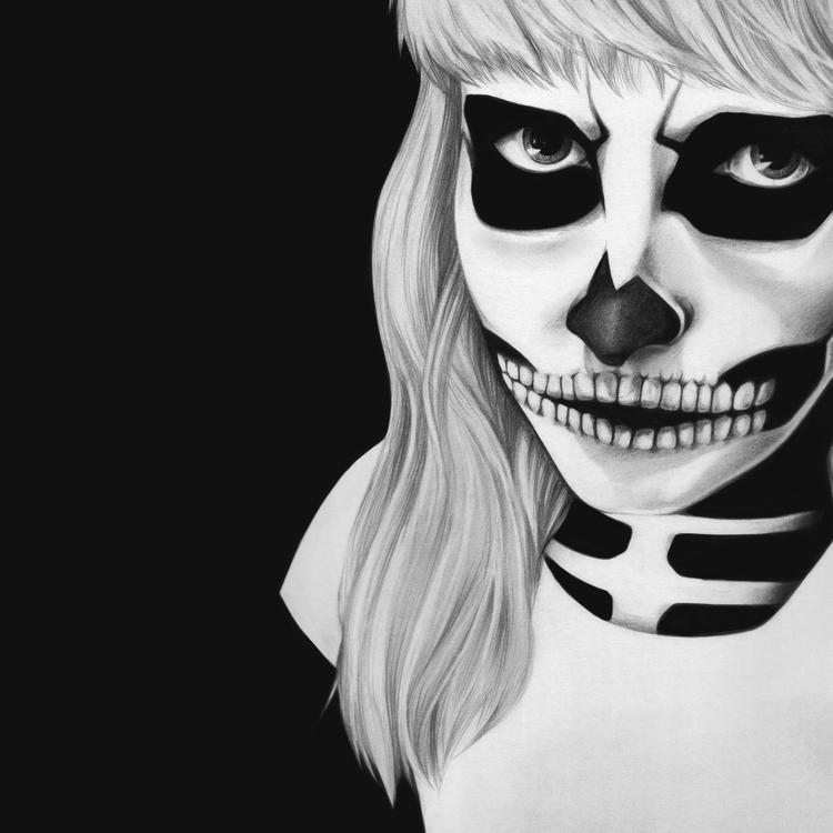 Graphite cardstock - skeleton, graphite - rschnapp | ello