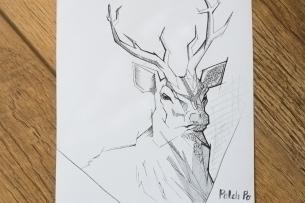 deer - illustration, painting, characterdesign - patchpo | ello