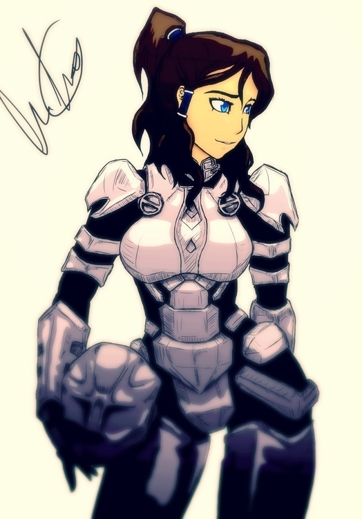 fan art korra power suit game s - caiooliveira-1135 | ello