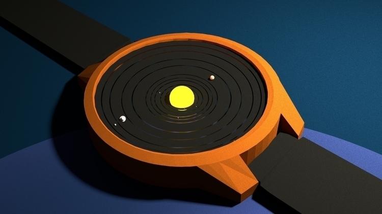 Clock Solar System - 3d, 3dart, 3dmodel - arlindoalface | ello