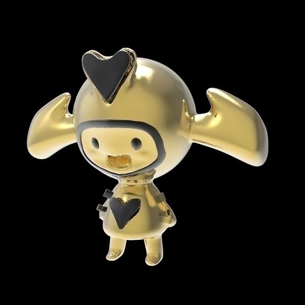 Heart girl - characterdesign, 3d - frankreyes | ello
