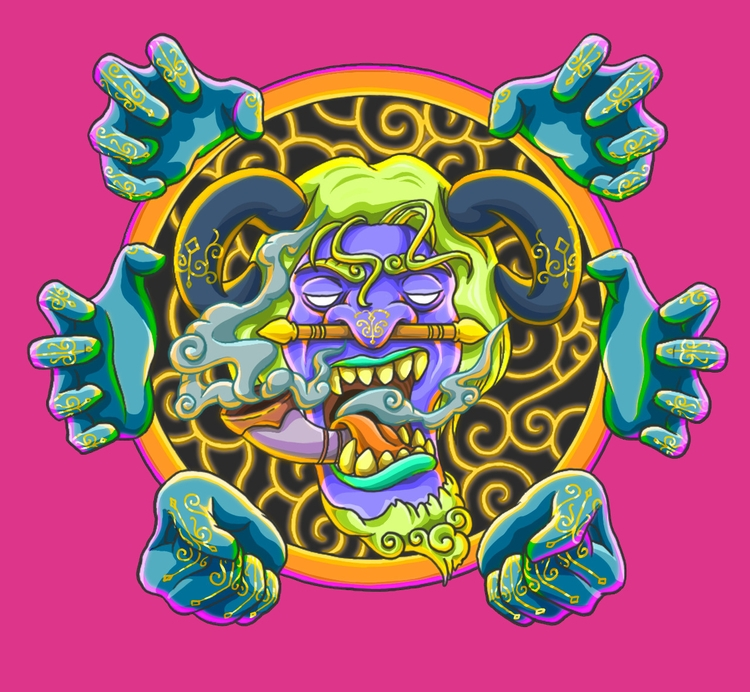 Oriental Beast - oriental, head - gemllave | ello