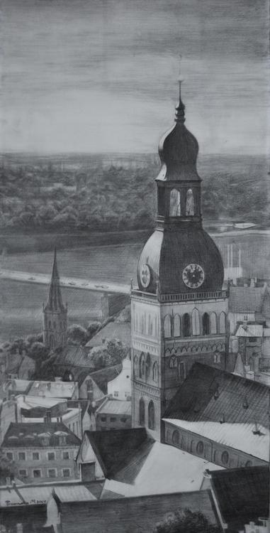 Riga 70x35 cm - drawing - maryna-6139 | ello