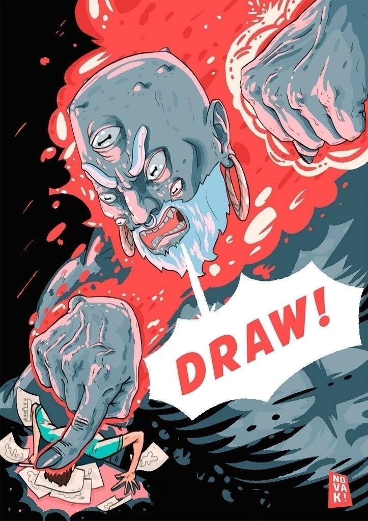 God creativity - illustration, drawing - foxhideblog | ello