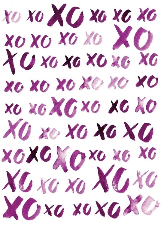 Hugs Kisses Pattern // Handlett - missjenbeck | ello