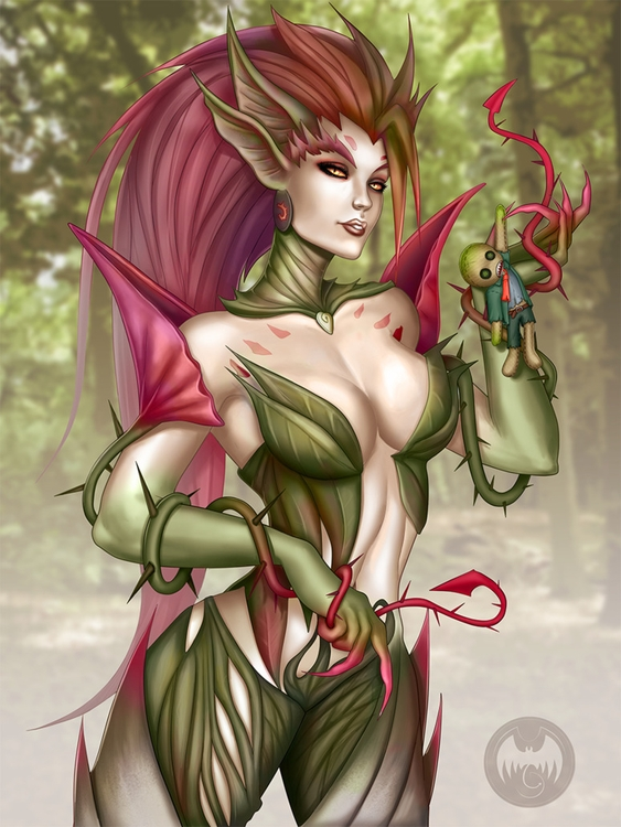 leagueoflegends, zyra, lol, brand - minitigress | ello