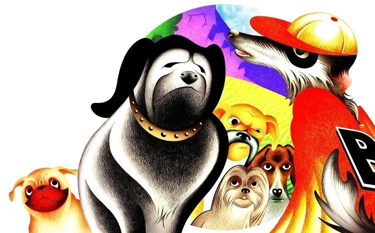 Colored pencil illustration/dig - journeymandesigns   ello