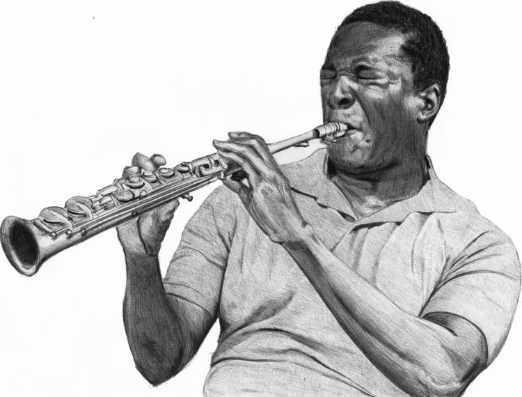 John Coltrane ballpoint pen dra - blueagain | ello