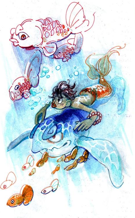 Fishboy - fish, characterdesign - pom-1507 | ello