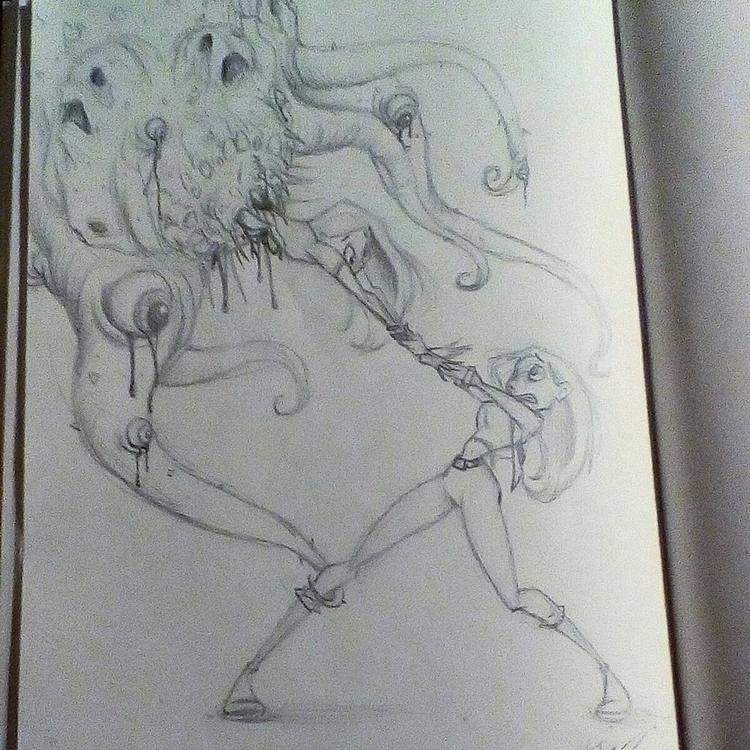 fears consume - illustration, sketches - hasaniwalker   ello