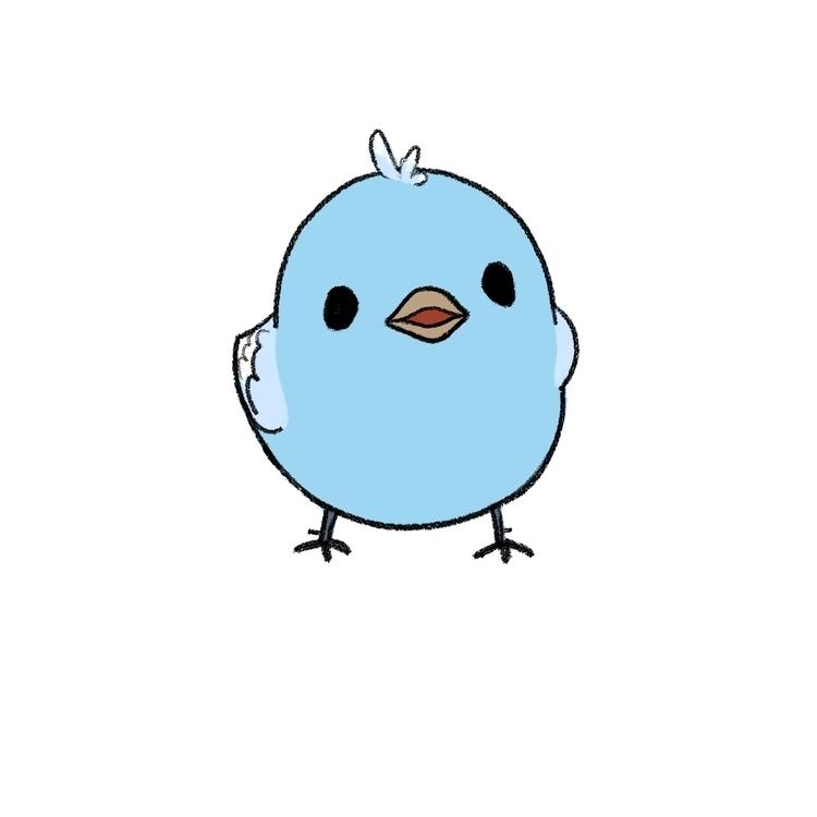 Blue bird - illustration, characterdesign - eunice-3818 | ello