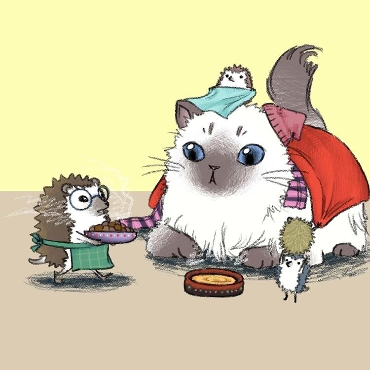 Hedgehog cat character concept  - eunice-3818   ello